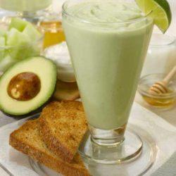 Recipe for Avocado Melon Breakfast Smoothie