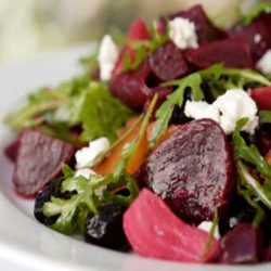Recipe for Beet Salad With Goat Cheese and Walnuts