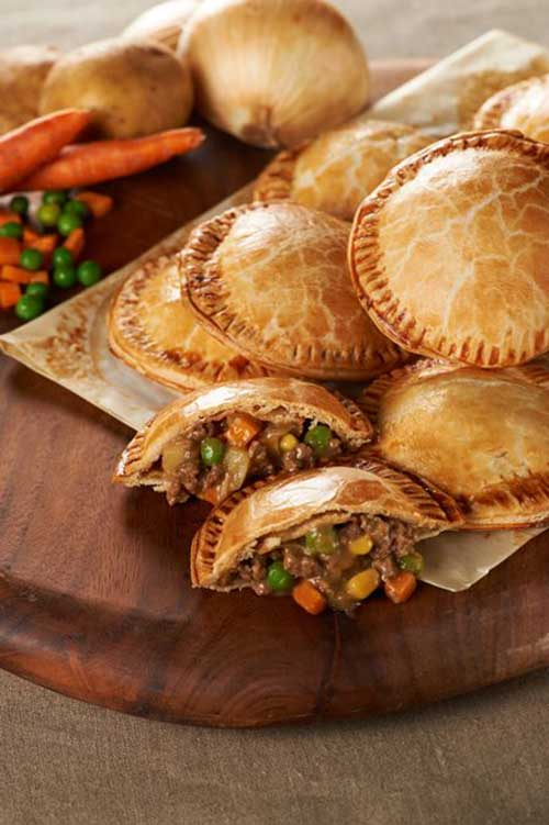 Just think of these little Shepherd's Hand Pies as individual pot pies that you can eat with your fingers. They make for perfect comfort food for dinner or anytime.