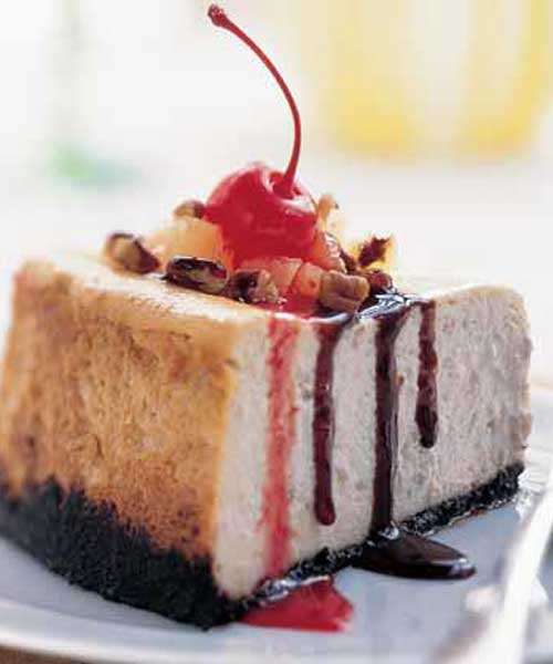Recipe for Banana Split Cheesecake