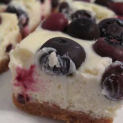 Recipe for Lemon Blueberry Cheesecake Bars - These came out fabulous! I loved them, and they disappeared pretty darn fast. So fast, that I didn't get a chance to photograph them and had to make another batch over the weekend.