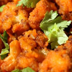 Recipe for Buffalo Baked Cauliflower