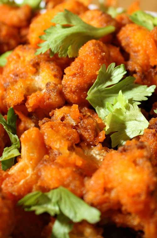 Recipe for Buffalo Baked Cauliflower