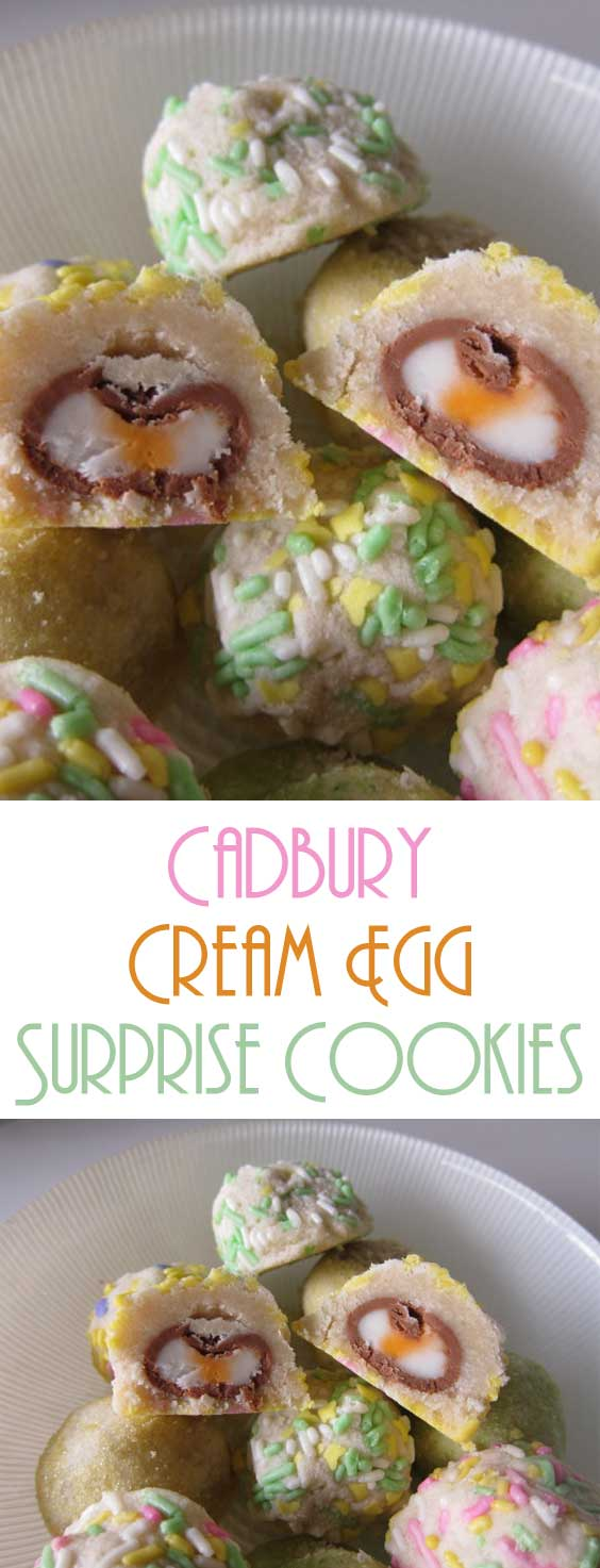 Cadbury Cream Egg Surprise Cookies
