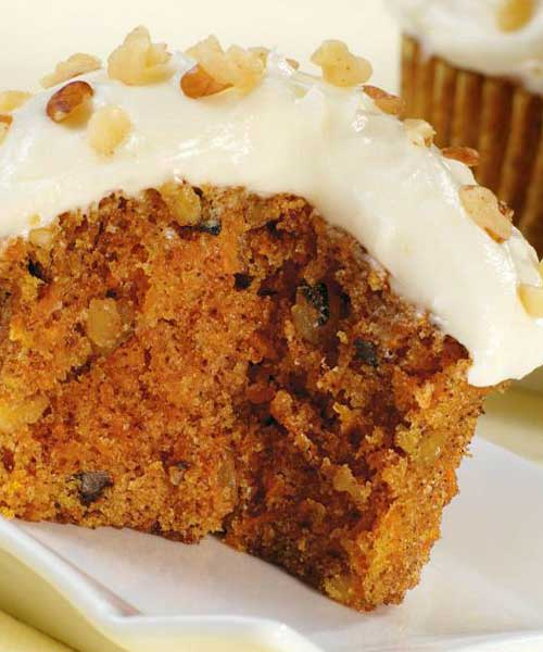 Recipe for Healthy Carrot Cake Cupcakes