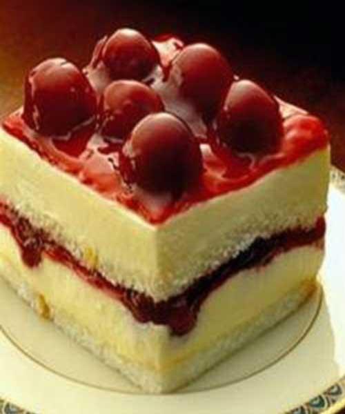 Recipe for Cherry Angel Cream Cake