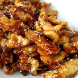 Serve this Slow Cooker Teriyaki Chicken over rice, you don't want any of that delicious, sticky sauce going to waste. And because we are all trying to be healthier this time of year make sure to serve lots of fresh stir fried vegetables on the side.