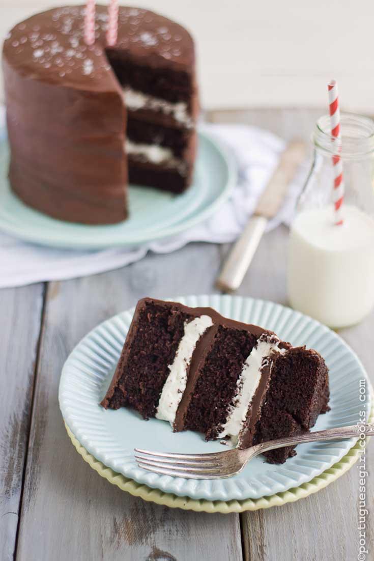 Salted Caramel Ding Dong Chocolate Cake