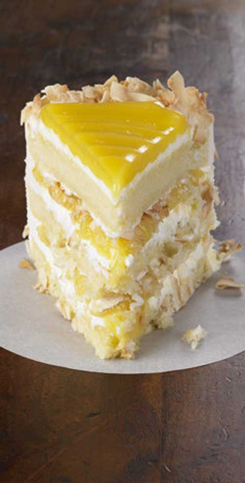 Tangy lemon filling between layers of tender white cake. Top it all off with a rich coconut-cream cheese frosting. Some people think that thisLemon Coconut Cake is the best cake they've ever eaten.