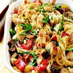 Recipe for Potluck Chicken Tetrazzini