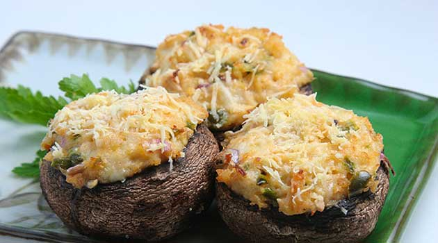 Copycat Olive Garden Stuffed Mushrooms Recipe Flavorite