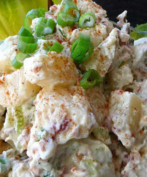 Recipe for Ranch Potato Salad - I have kept this recipe a ranch secret, but I have decided to share it. This is my variation of a French classic garlic potato salad.