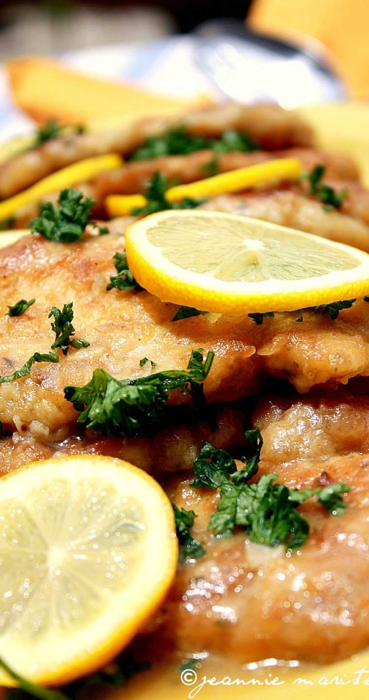 I LOVE chicken piccata, but Im often disappointed with recipes I try at home. This one is the exception! Pan-fried chicken breast medallions get a light, fresh lemon-butter sauce with capers and parsley. #chicken #lemon #dinnerideas