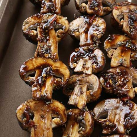 I absolutely love these Grilled Mushroom Skewers in every way! I could eat them every day, PLUS they taste so good and are healthy too!