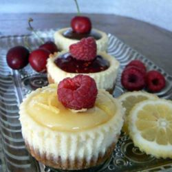 Mini Cheesecakes - These cute little cheesecakes are so yummy. And there is no end to how they can be topped. What is your favorite flavor combo?