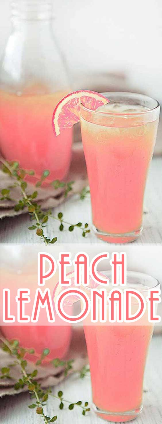 I love lemonade when it gets warm out. This Peach Lemonade Recipe is a refreshing twist...I may never go back to the concentrated stuff again! #drinkrecipe #summerrecipe #lemonade #summertime