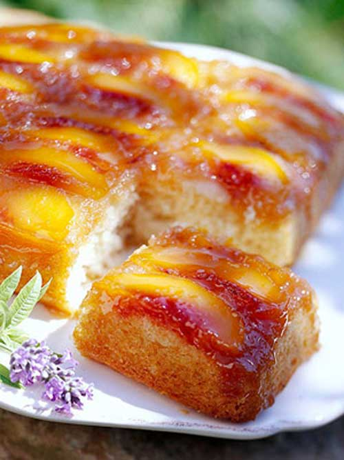 No box cake recipe here.. This Homemade Peach Upside Down Cake recipe is just like Grandma used to make!