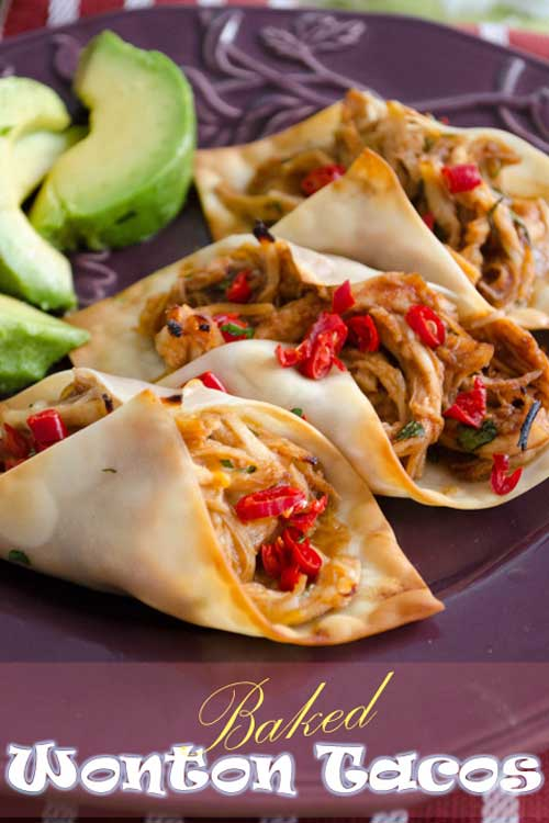 When I saw that you can use wonton skins to make little tacos, I immediately experimented with the idea. These little tacos are bite sized yummy goodness. I'll tell you. They make a great appetizer… and also a great, light lunch!