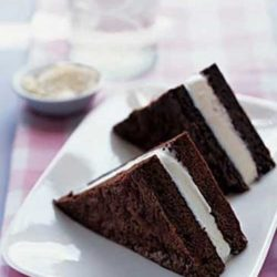 For an even faster version of this decadent dessert, substitute your favorite brownie mix. If you don't have 2 (8-inch) square baking pans, use disposable aluminum ones. Lining pans with parchment or aluminum foil simplifies lifting the brownies out and yields clean edges