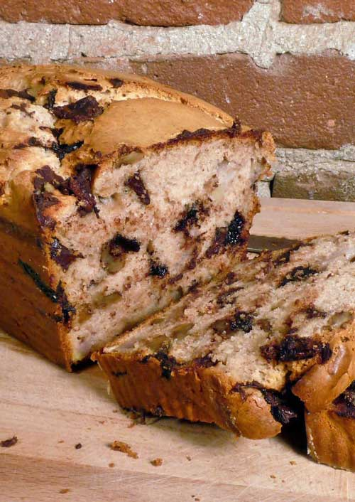 Recipe for Chunky Monkey Ice Cream Bread - If you like banana bread, you're going to go ape for this Chunky Monkey ice cream bread! This recipe takes the concept of 2-ingredient bread to a whole new level. I will probably never make banana bread any other way again - this is way too easy, and waaaay too good.