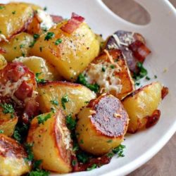 These Oven Roasted Potatoes will absolutely melt in your mouth !!