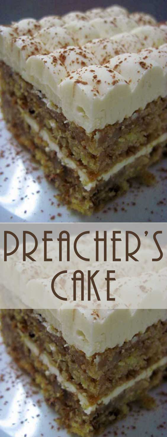 This tender moist Preacher\'s Cake is perfect to bring to potlucks, make during the holidays, or enjoy any time you\'re craving something sweet. #cakerecipe #baking #dessertrecipe