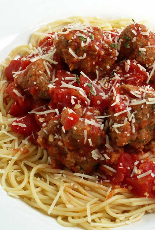"Recipe for Classic Spaghetti and Meatballs - It turns out, not everyone thinks of the spaghetti and meatballs version of ""On Top of Old Smokey"" when they think of spaghetti and meatballs. And no, not one single meatball met it's fate by rolling on the floor and out the door from someone sneezing. It was all good, happy meatball eating, y'all. Try these soon. I think you'll be pleased."