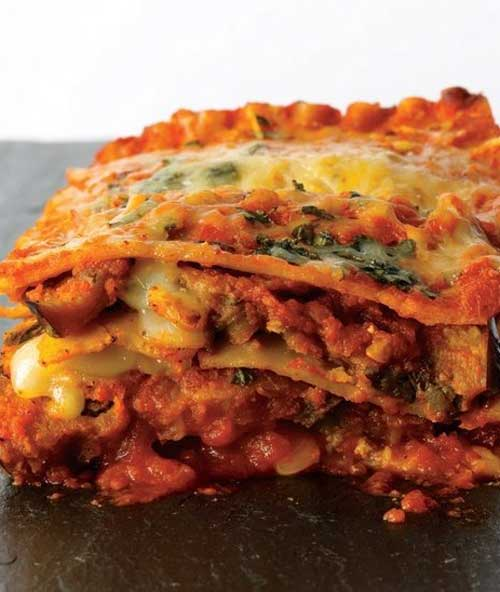 Two favorites, eggplant parmesan and lasagna, come together to make this Eggplant Parmesan Lasagna with layers and layers of wonderful flavor!