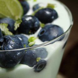 Recipe for Blueberry Lime Cheesecake Parfait - This parfait makes a quick and delicious dessert. I think it is perfect as a mid-day snack too!