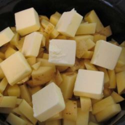 Mashed Potatoes in a Crock Pot – life changing! I loved them because not only were they delicious – they were also so easy to make.