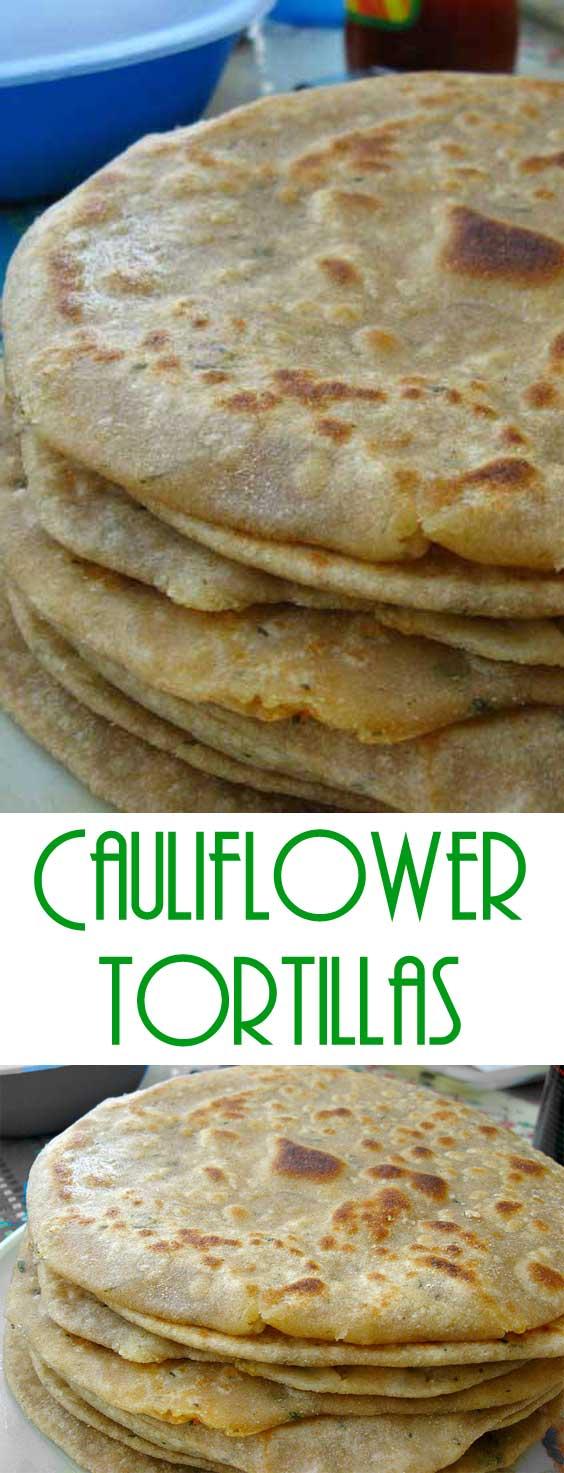 Cauliflower Tortillas - Paleo - Grain Free - Gluten Free