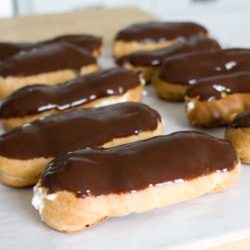 Recipe for Chocolate Eclairs - Eclairs seem like such a special treat to me. When I was younger, I thought of them as exotic, and would treat them like a treasured pearl when I happened upon one.