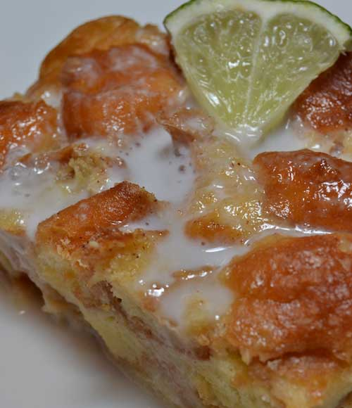 Recipe for Key Lime Bread Pudding - Stop eating boring bread pudding. Here is a tart twist that is simple to make. And rather than French bread, I used donut holes to give it added sweetness.