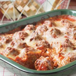 Recipe for Meatball Sub Casserole - It's so easy to enjoy this classic sub in casserole form! Grab a fork and sink your teeth in to this delectable Meatball Sub Casserole.