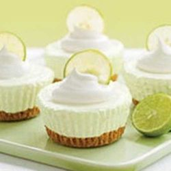 Recipe for No Bake Key Lime Cream Cakes - This simple, no-bake dessert is easy to prepare and impressive to serve!