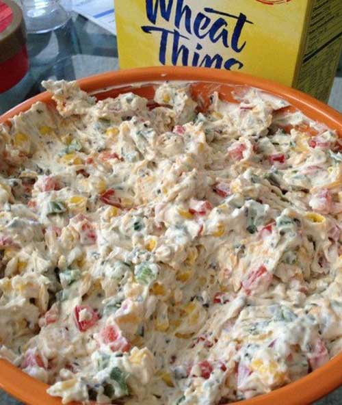 It uses lots of veggies and low fat ingredients so I did not feel guilty snacking on it. I will for sure be making this Tried and True Skinny Poolside Dip in the summer.