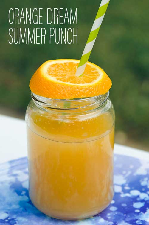 Everyone needs a great summer punch recipe, and this incredibly easy and yummy orange dream summer punch fits the bill perfectly.