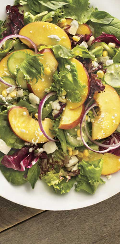 Recipe for Sunsational Salad - A light, healthy, refreshing summer salad. Perfect for when all of the traditional BBQ sides start to weigh you down.