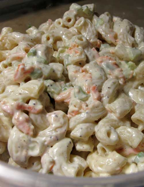 Absolutely the BEST macaroni salad! The mayo mixture in this Sweet Amish Macaroni Salad Recipe is what makes it so delightful — that bit of sweetness!