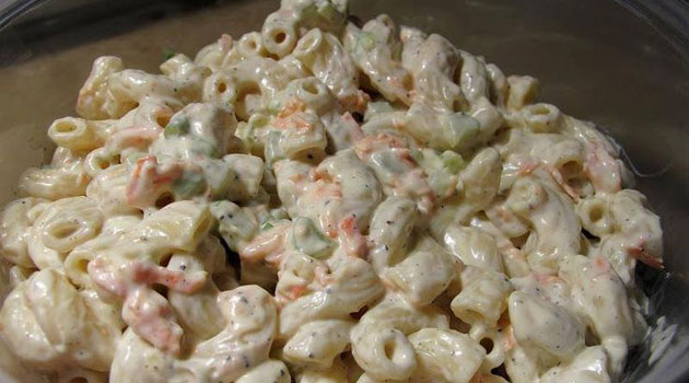Sweet Amish Macaroni Salad Recipe Flavorite