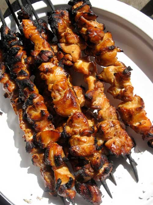 Honey And Beer Glazed Chicken Skewers Recipe Flavorite