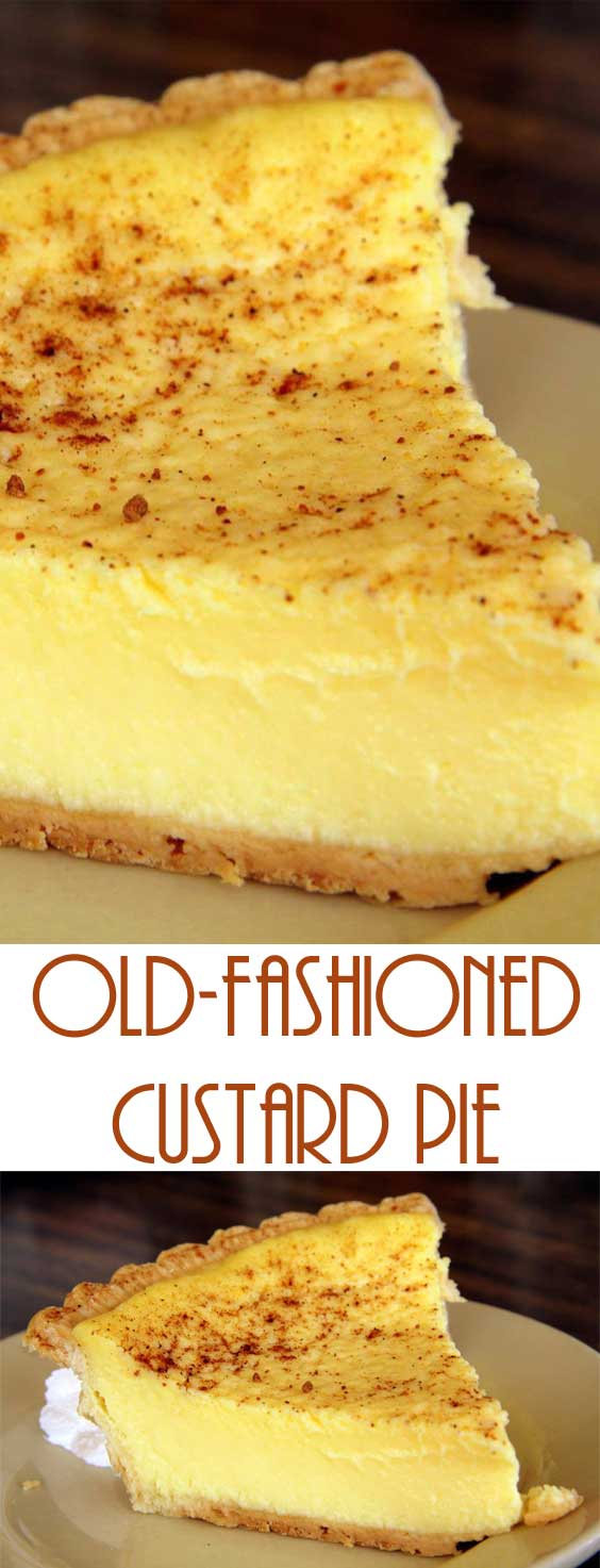 Old Fashioned Custard Pie Recipe Flavorite