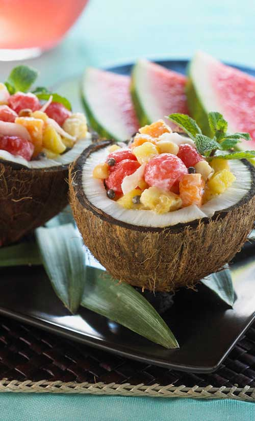 """This cute salad will bring the luau spirit to your next gathering. It is sure to have all the """"keikis"""" asking for more!"""