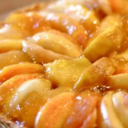 I picked up a small basket of peaches on Saturday and let them get just ripe enough to bake with. So, today was the day and Peach Tart is what's for dessert!