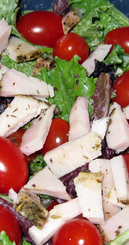 Roasted Pork Tenderloin Caesar Salad