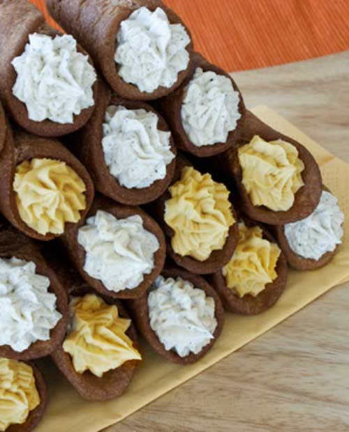 Recipe for Mix and Match Cannoli - Behold the perfect after dinner treat. They're cute, single-serving, and delicioso!