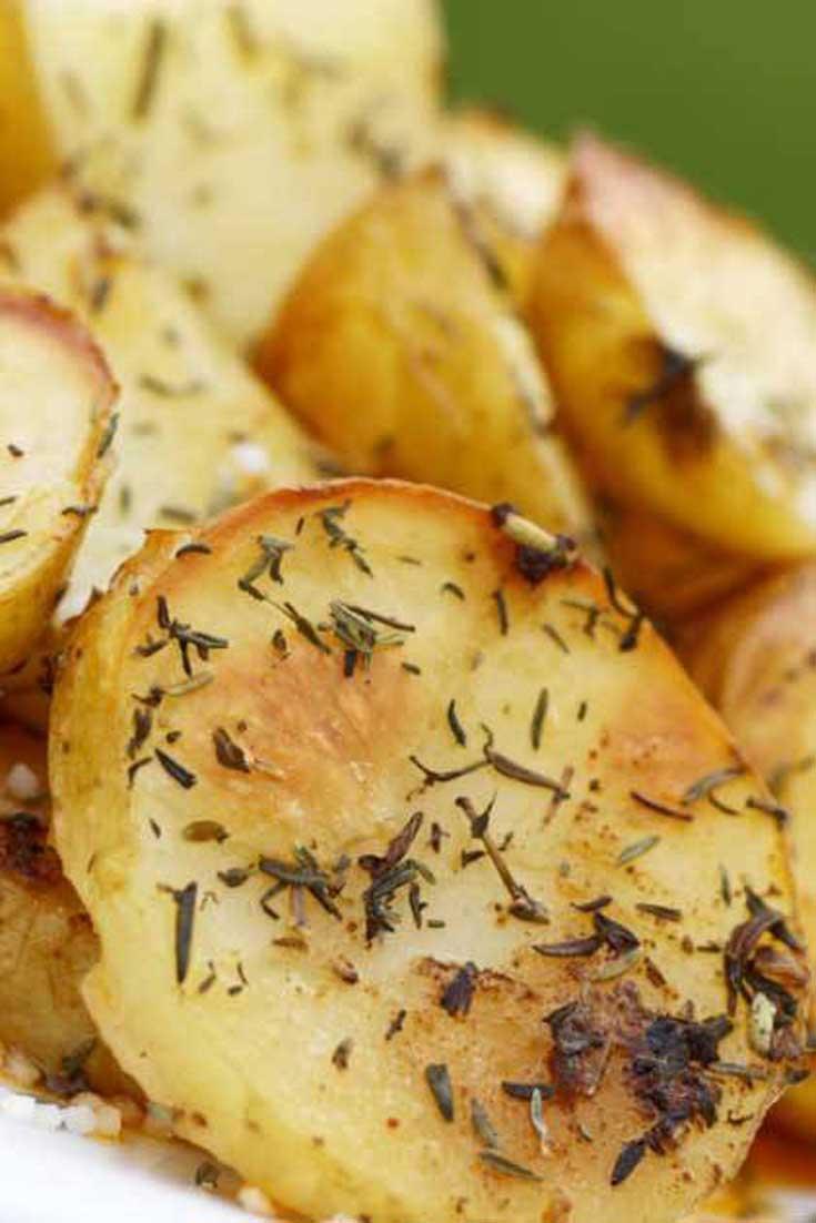 Garlic and Oregano Roasted Potatoes
