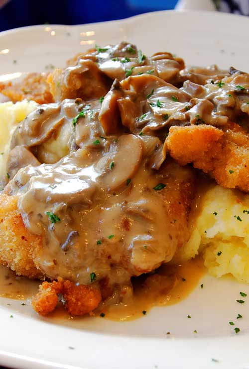 When you have a craving for German food (or mushrooms), this Jaegerschnitzel recipe, a traditional pounded cutlet with a mushroom sauce, is what you need.