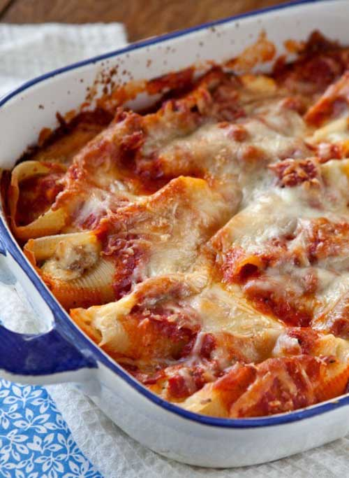 Sausage And Cheese Stuffed Shells Recipe Flavorite