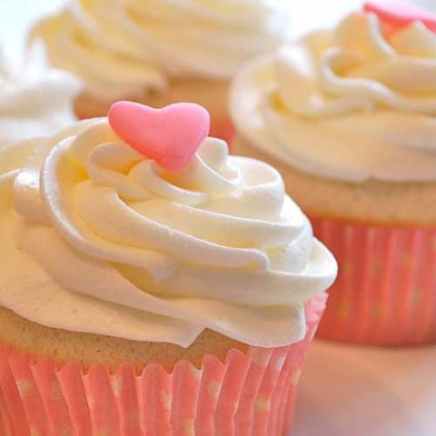 Recipe for Small Batch Vanilla Cupcakes - Do you know those times when you want to make a few cupcakes, and NOT 2 dozen? This recipe is PERFECT for those moments!